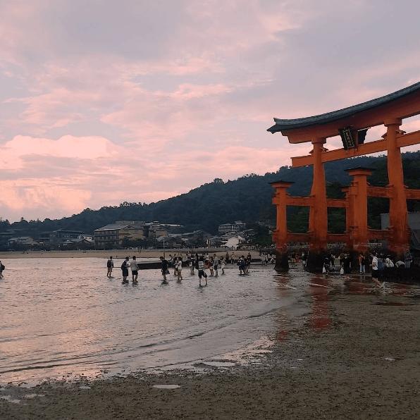 Low tide on Miyajima Island