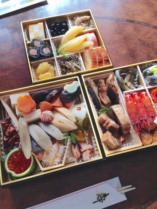 Osechi is the traditional Japanese food eaten on New Year's Day.