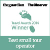 The Guardian, The Observer - Travel Awards 2014 Winner - Best small tour operator