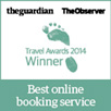 The Guardian, The Observer - Travel Awards 2014 Winner - Best online booking service