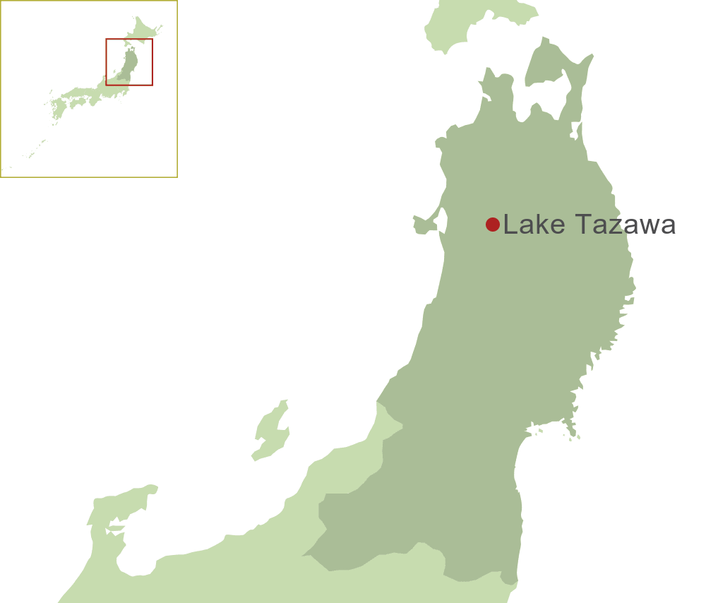 Lake Tazawa Map