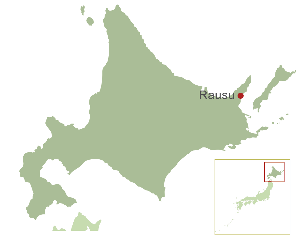 Rausu Map