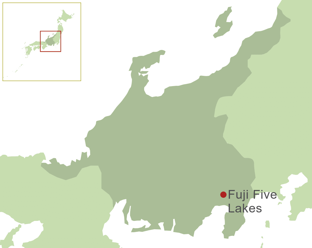 Fuji Five Lakes Map