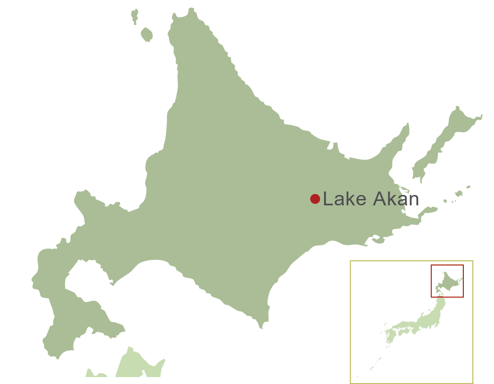 Lake Akan Map