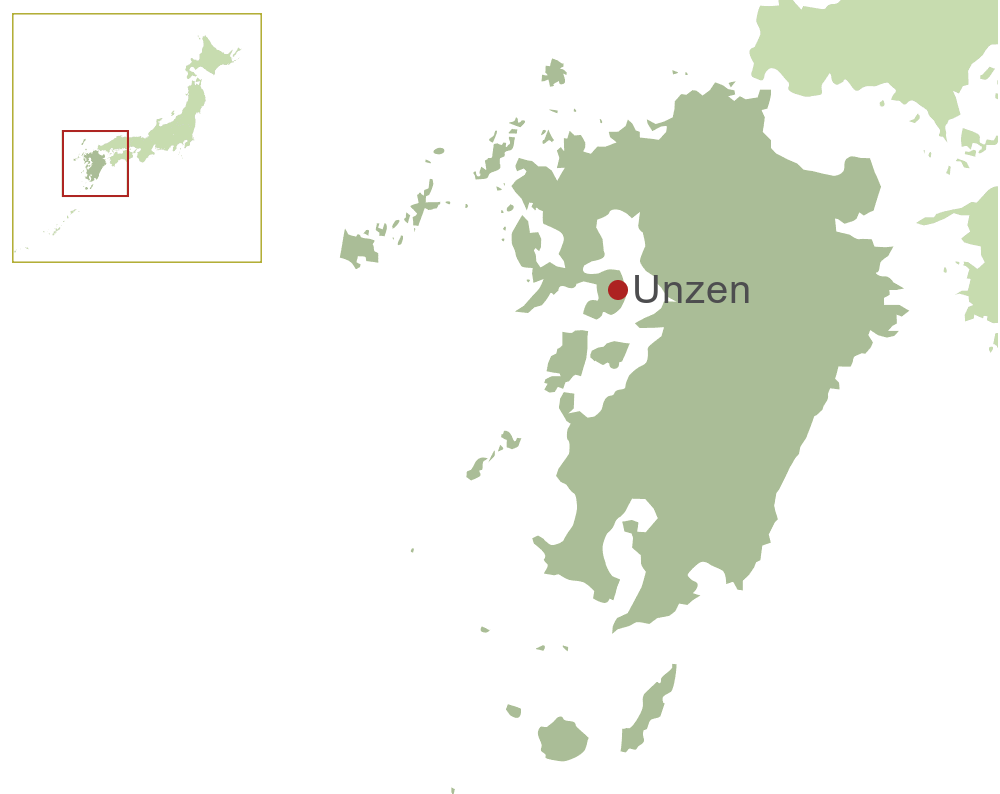 Unzen Map