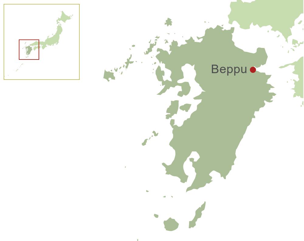 Beppu Kyushu Inside Japan Tours - Japan map beppu