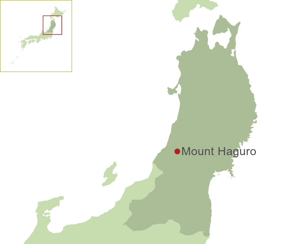 Mount Haguro Map