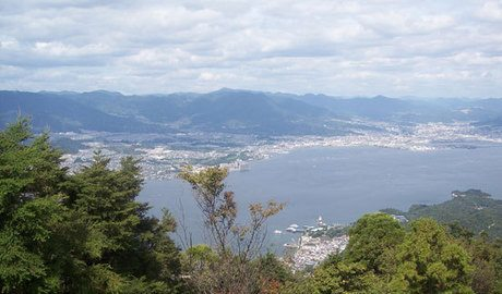 Top-of-the-world view from Mt. Misen on Miyajima Island.