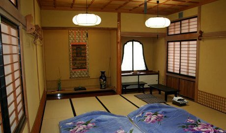 Our room at the temple lodgings in Nagano - just what you'd expect in Japan.