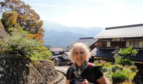 Hiking to the Tsumago,  an old restored town in the Japanese Alps