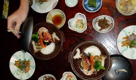 One of the amazing meals we had at a traditional ryokan.