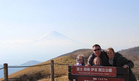 Us with Mt Fuji in the back ground