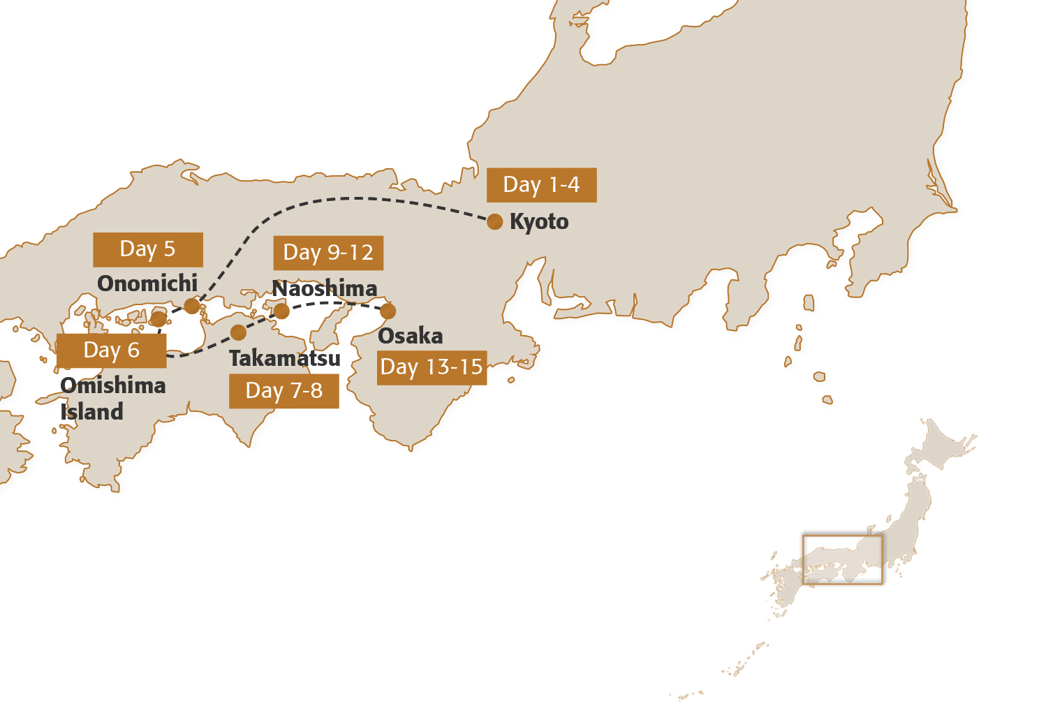 Map for Art and the Seto Inland Sea