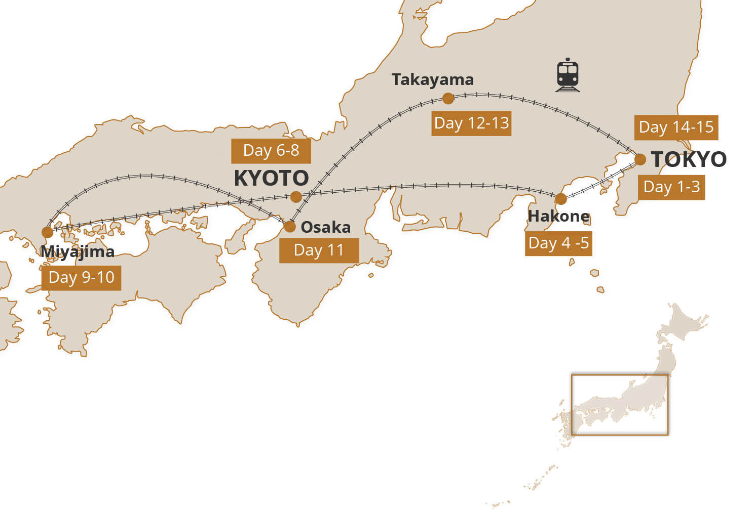 Map for Best of Japan