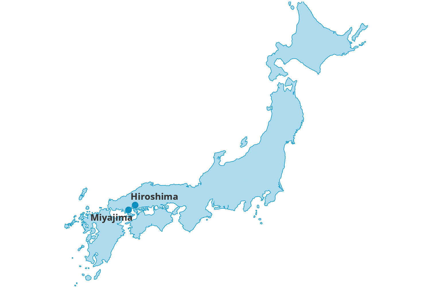 Map for Japan Past & Present