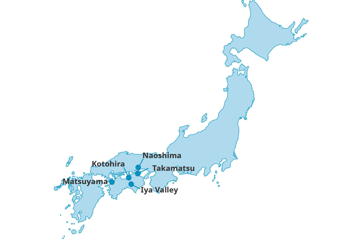 Map for Shikoku Art & Culture