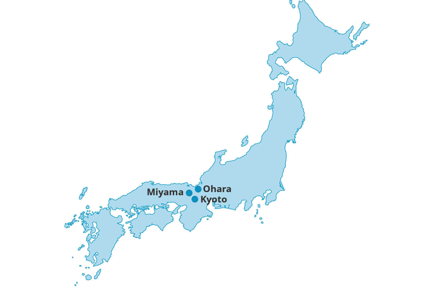 Map for Kyoto City & Country