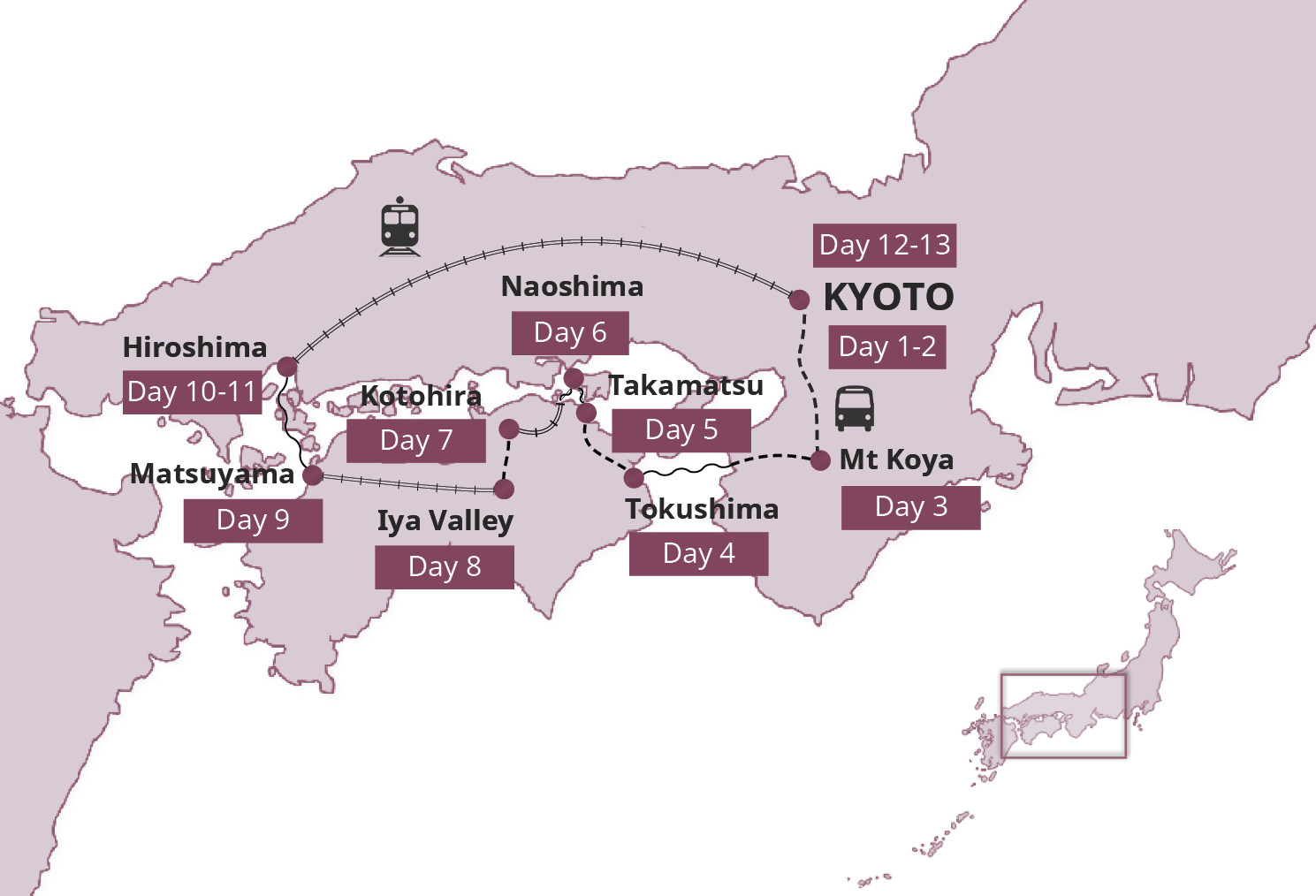 Hidden Japan Japan Small Group Tour – Japan Tourist Map