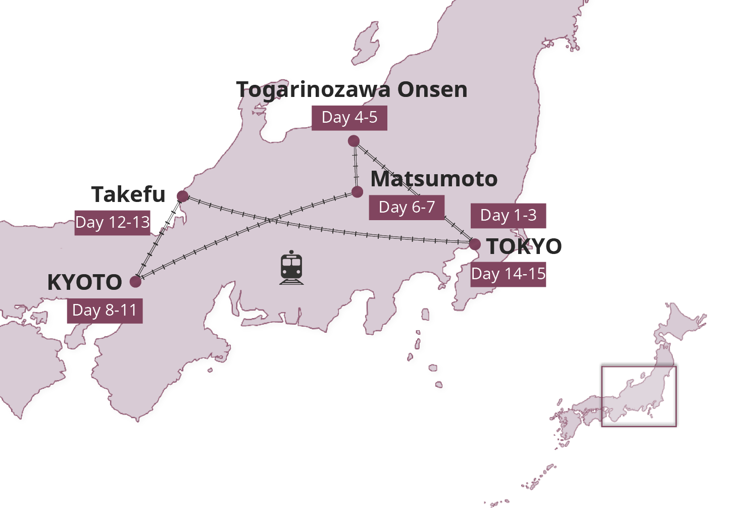 Map for Hands On Japan