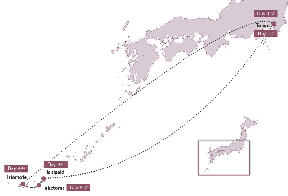 Map for Japan Island-Hopping
