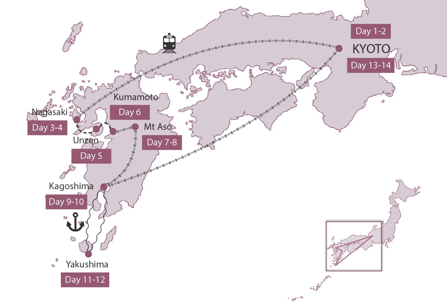 Map for Kyushu Elements