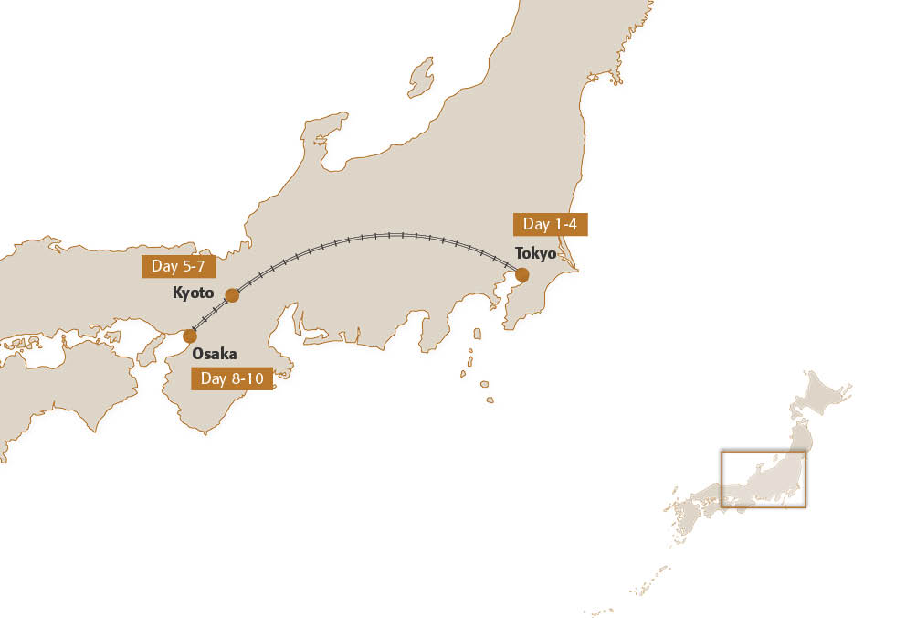 Map for InsideJapan's Manga & Anime