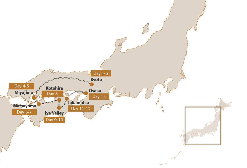 Map for Secrets of Shikoku