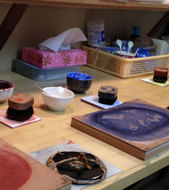 Woodblock print making