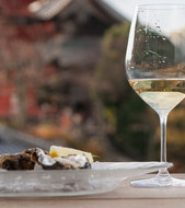 Oysters and Chablis on Miyajima