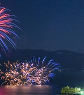 Lake Toya summer fireworks