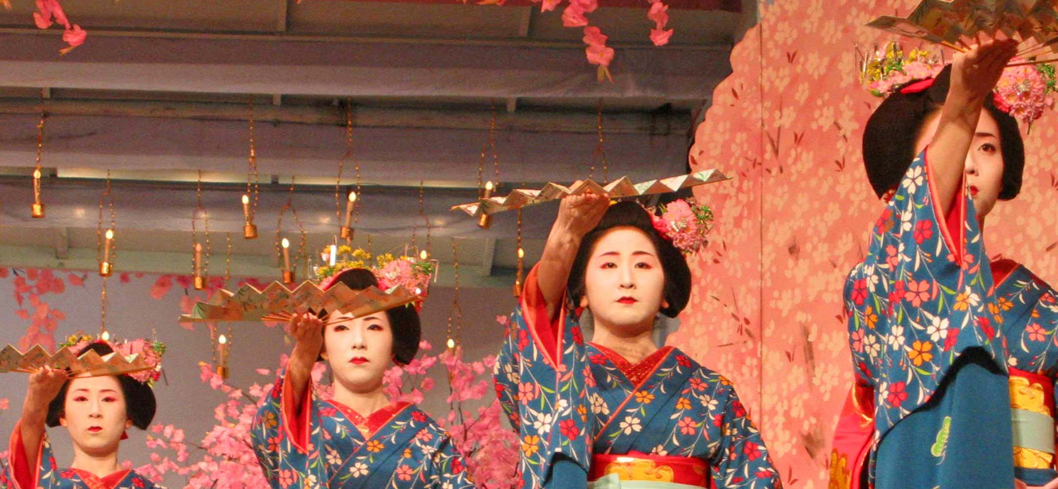 Geisha dance performances