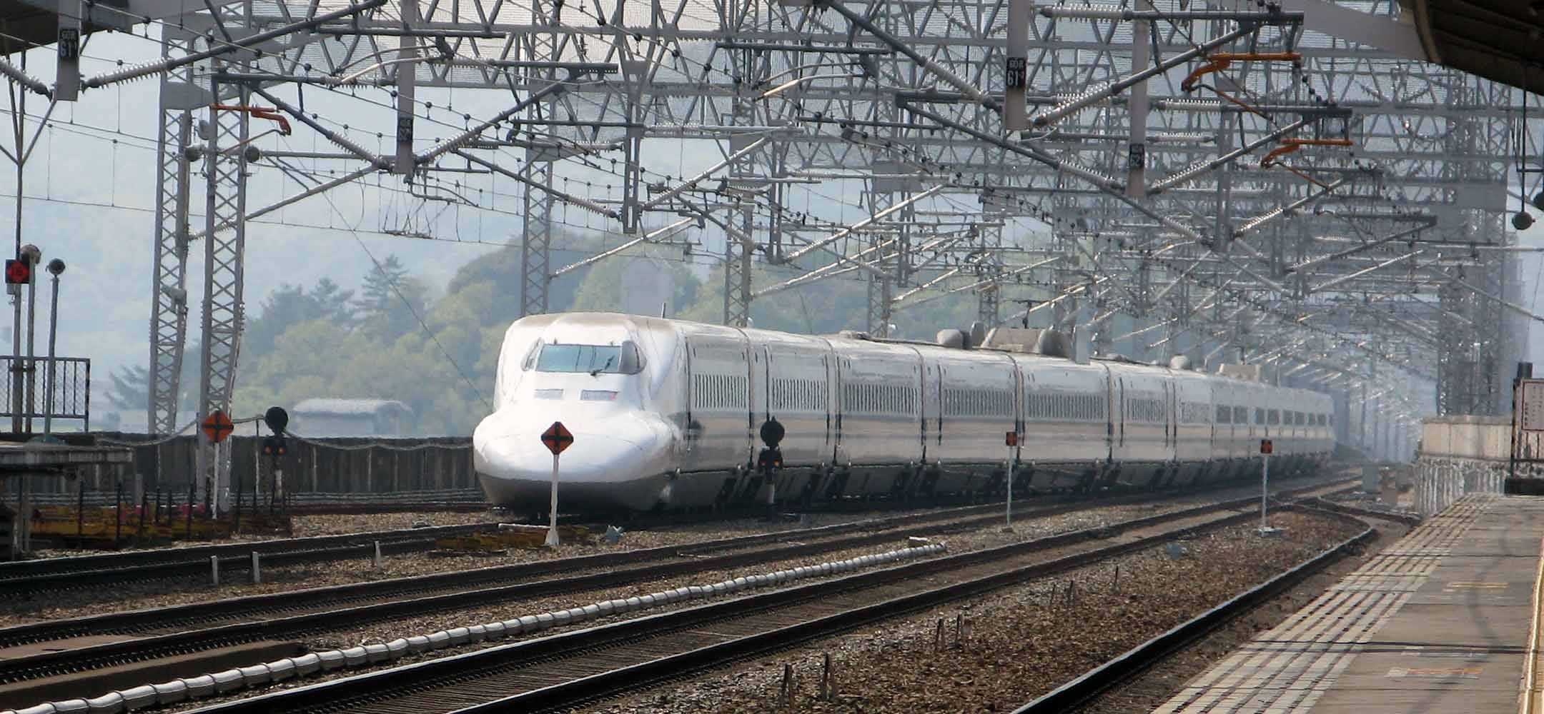 The Shinkansen bullet train