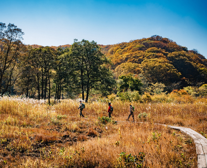 Feel a sense of achievement as you complete all six days and 70km of the Shin-Etsu Trail.